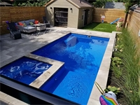 Kildonan Drive, Scarborough, Downtown Beaches Limitless 26 Fiberglass Pool with Hot Spa  Small Yard Big Dreams