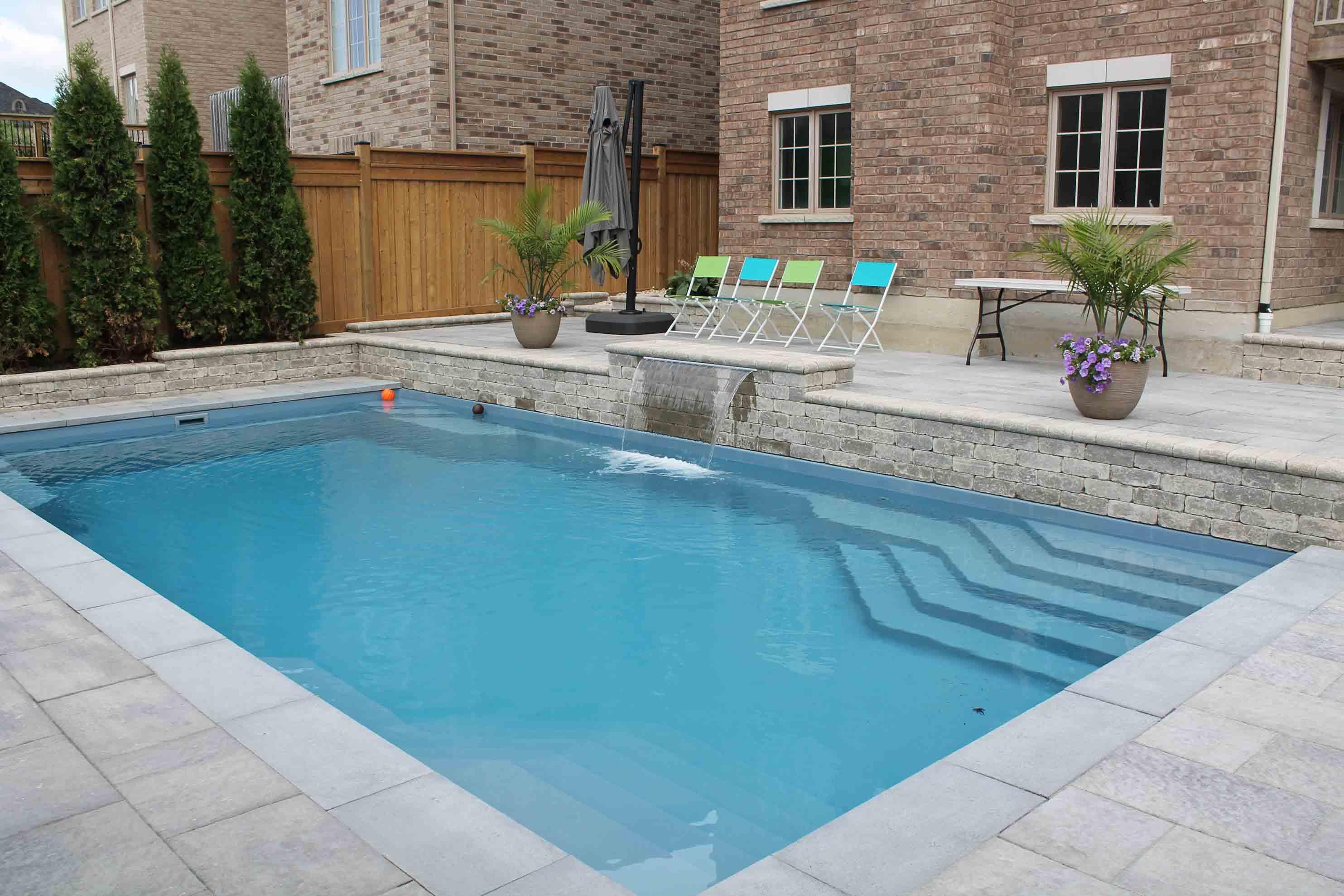 Whitby Pool Landscape Installation Fiberglass Inground