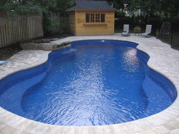 Leisure pools fiberglass inground swimming pools and spas - Riviera fiberglass pools ...