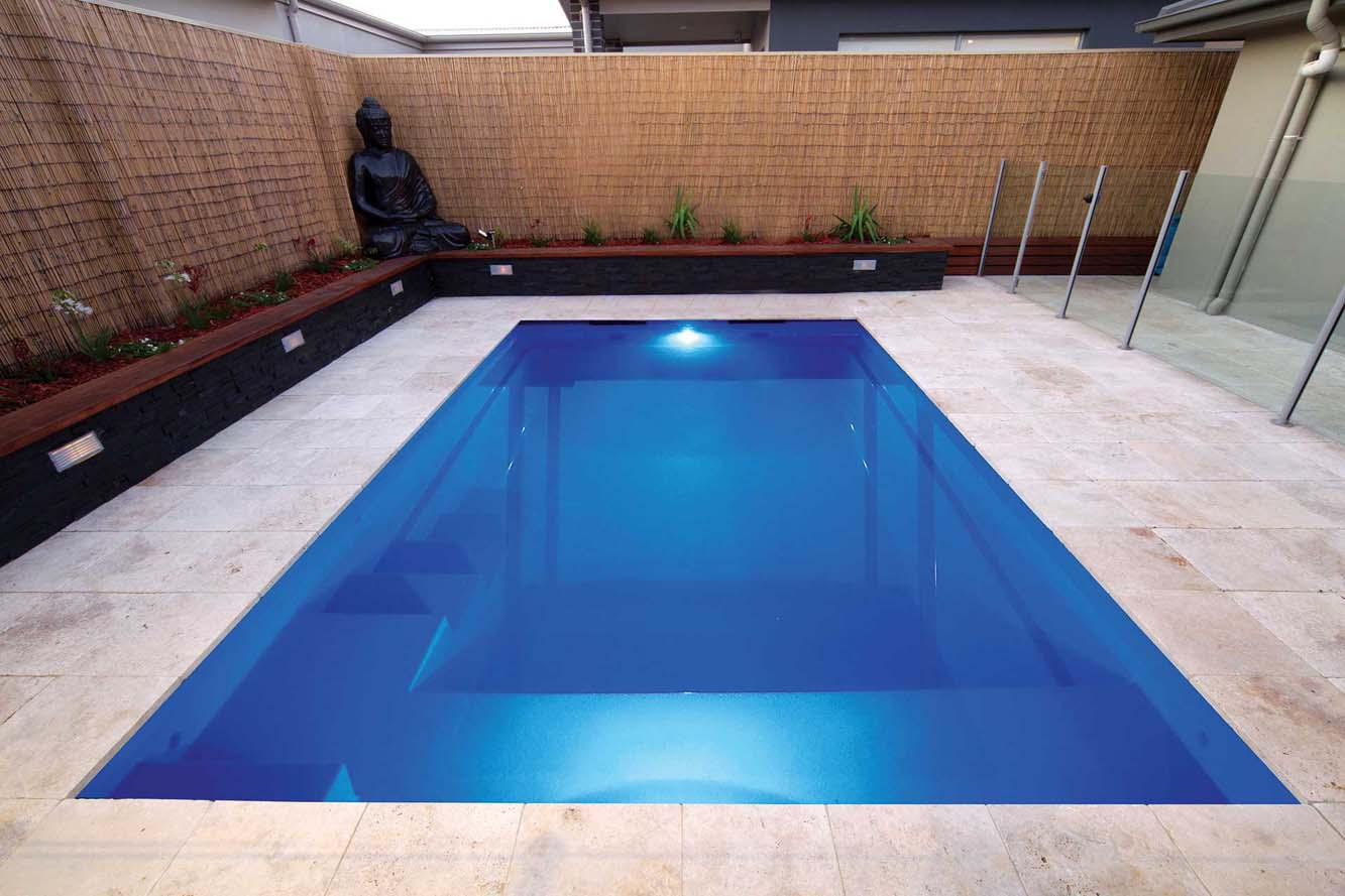 Leisure pools fiberglass inground swimming pools and spas for Fibreglass swimming pool prices